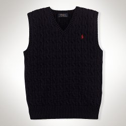 Ralph Lauren - Cable Knit Cotton Vest