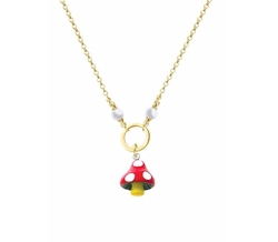 Delight Jewelry - Spotted Mushroom Necklace