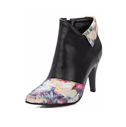 Summerwhisper - Floral Print Pointed Toe Boots