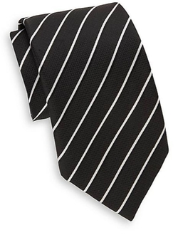 Saks Fifth Avenue  - Two-Tone Striped Silk Tie