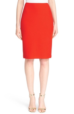 St. John Collection - Textural Twill Knit Pencil Skirt