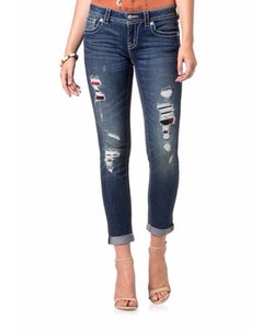 Miss Me - Distressed Cuffed Skinny Jeans