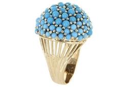 Konstantino  - Pave London Blue Topaz Ring