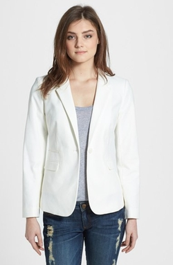 Vince Camuto  - Stretch Cotton One-Button Blazer