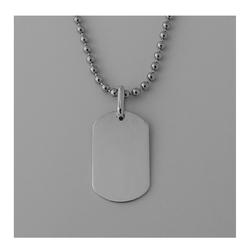 Beauniq - Silver Dog Tag Necklace