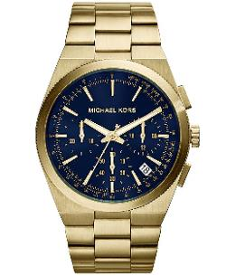 Michael Kors  - Chronograph Channing Gold-Tone Stainless Steel Bracelet Watch