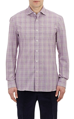 Isaia - Plaid Dress Shirt
