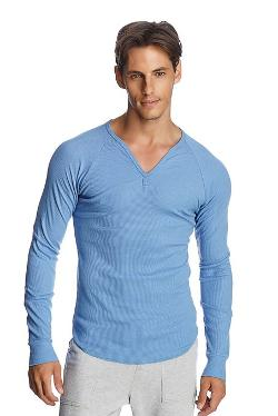 4-rth  - Thermal V-neck Long Sleeve Henley