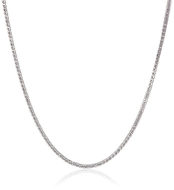 Amazon Collection - Italian Gold Diamond-Cut Wheat Chain Necklace
