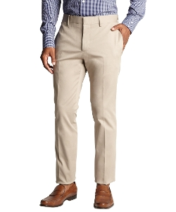 Gucci - Khaki Cotton Blend Flat Front Pants