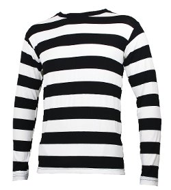 Large Mouth - Long Sleeve Striped Shirt