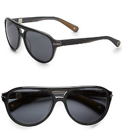 Sperry  - Newport Oversized Aviator Sunglasses