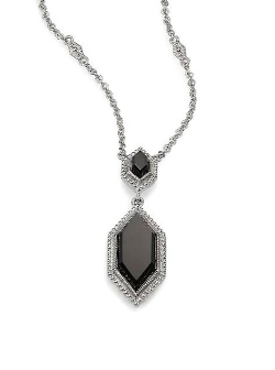 Judith Ripka - Black Onyx & Sterling Silver Pendant Necklace