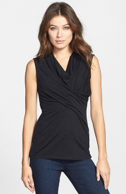 Classiques Entier - Sleeveless Draped Front Jersey Top