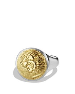David Yurman  - Petrvs Lion Signet Ring