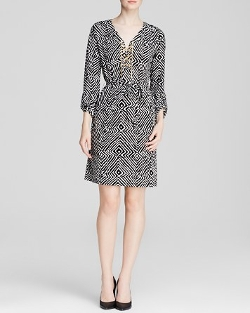 Michael Kors - Domasi Lace Up Chain Dress