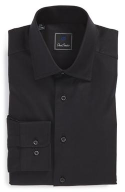 David Donahue  - Regular Fit Royal Oxford Dress Shirt