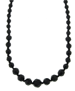 2028 Necklace - Jet Bead Necklace