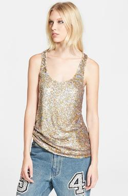 Ashish  - Sequin Silk Georgette Tank Top