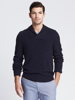Banana Republic - Textured Shawl-Collar Sweater