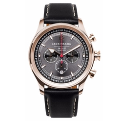 Jack Mason Brand  - Nautical Chronograph Leather Strap Watch