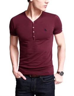 Match  - Mens Cotton Tee Shirts Henley Shirts