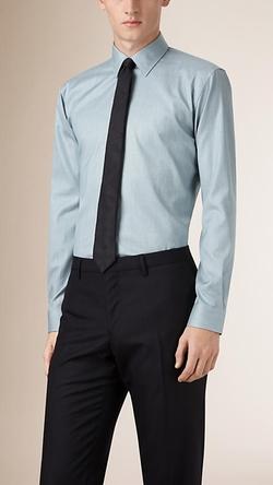 Burberry  - Modern Fit Cotton Shirt