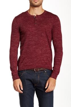 Vince.  - Wool Blend Heathered Knit Henley Shirt
