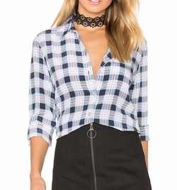 Equipment - Brett Plaid Button Up Shirt