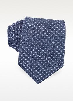 Moschino  - Dots Silk Tie