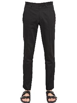 GIVENCHY - 19CM COTTON GABARDINE TROUSERS