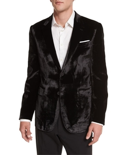 Paul Smith  - Bayard Liquid Velvet Two-Button Jacket