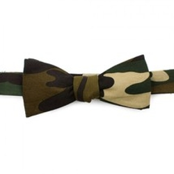 Ox and Bull - Green Camo Cotton Bowtie