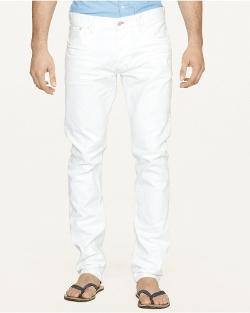 Ralph Lauren - Slim-Fit Optic-White Jeans