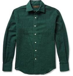 Freemans Sporting Club   - Hopkins Houndsooth Wool-Flannel Shirt