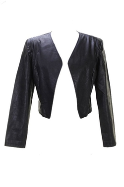 Bar III - Faux-Leather Open Blazer