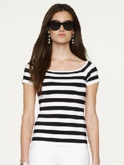 Black Label - Striped Off-the-Shoulder Top