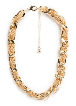 Mango - Intertwined Chain Choker Necklace