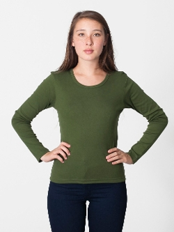 Baby Rib - Long Sleeve Scoop Neck T Shirt
