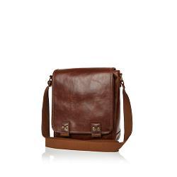River Island - Brown Mini Messenger Bag