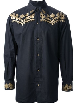Jean Paul Gaultier Vintage - Embroidered Western-Style Shirt