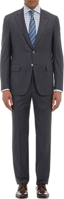 Isaia - Pinstripe Two-Button Suit