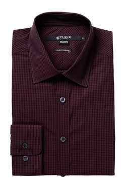 Tiger of Sweden  - Steel Gingham Long Sleeve Slim Fit Shirt