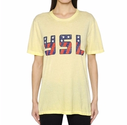 Saint Laurent - YSL Printed Cotton Jersey T-Shirt