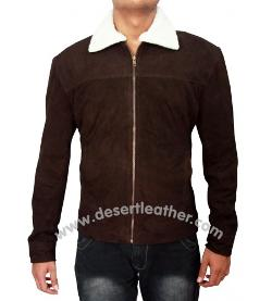 Desert Leather - The Walking Dead Rick Grimes Season 4 Suede Jacket