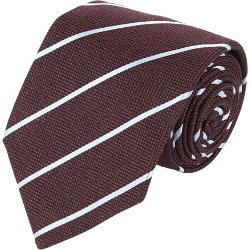 Isaia - Ribbon-Stripe Jacquard Neck Tie