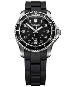 Victorinox Swiss Army - Maverick Black Rubber Strap Watch