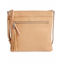Halogen - Tasseled Leather Crossbody Bag