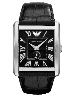 Emporio Armani - Stainless Steel Square Watch