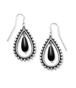 James Avery  - Beaded Teardrop with Onyx Earrings